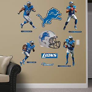 Detroit Lions Power Pack Wall Decals